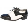 Shoe Oxford Black And White Men Small